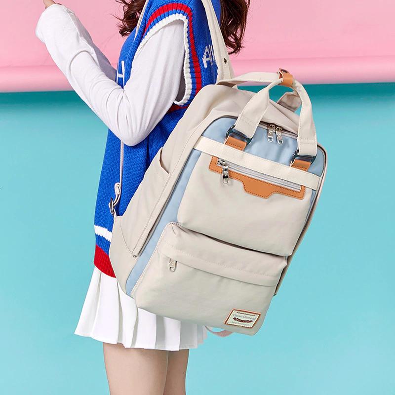 2020 New Waterproof Nylon Kids Backpack Girls For Middle School Students Travel Shoulder Backpacks Children School bags Women Bag