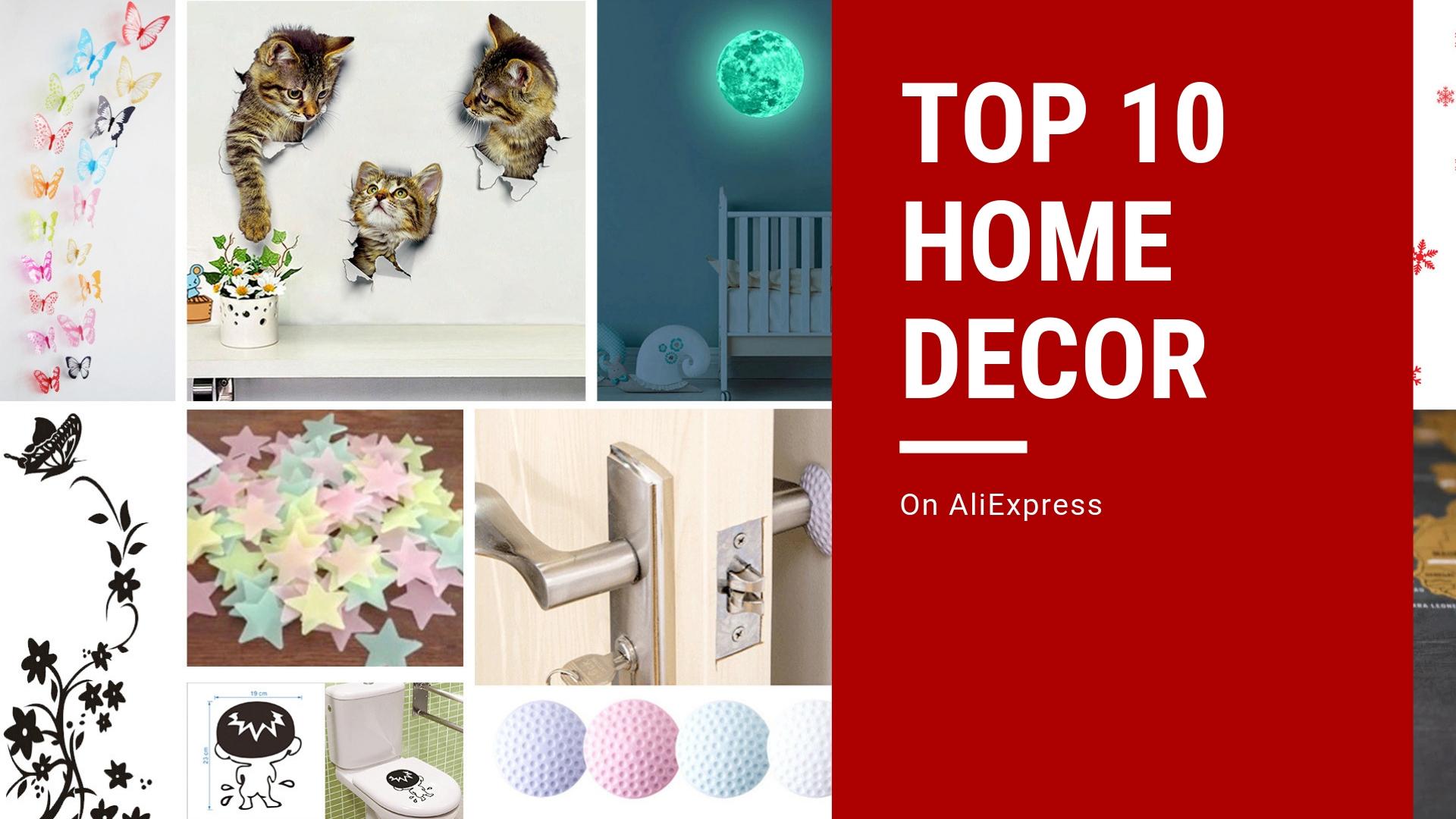 Home Decor Top Ten (Top 10) on AliExpress