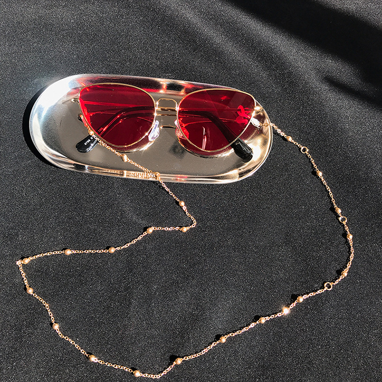 Fashion Chic Womens Gold Silver Eyeglass Chains Sunglasses Reading Beaded Glasses Chain Eyewears Cord Holder neck strap Rope