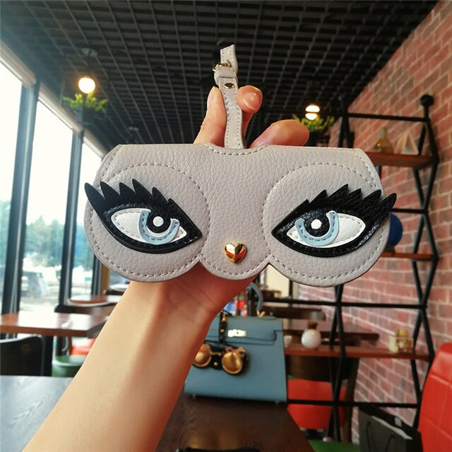 Animal Cartoon Fashion Hot Sale Women Portable Case PU Leather Sun Eye Glasses Box For Eyeglass Sunglasses Cute Protection Bag