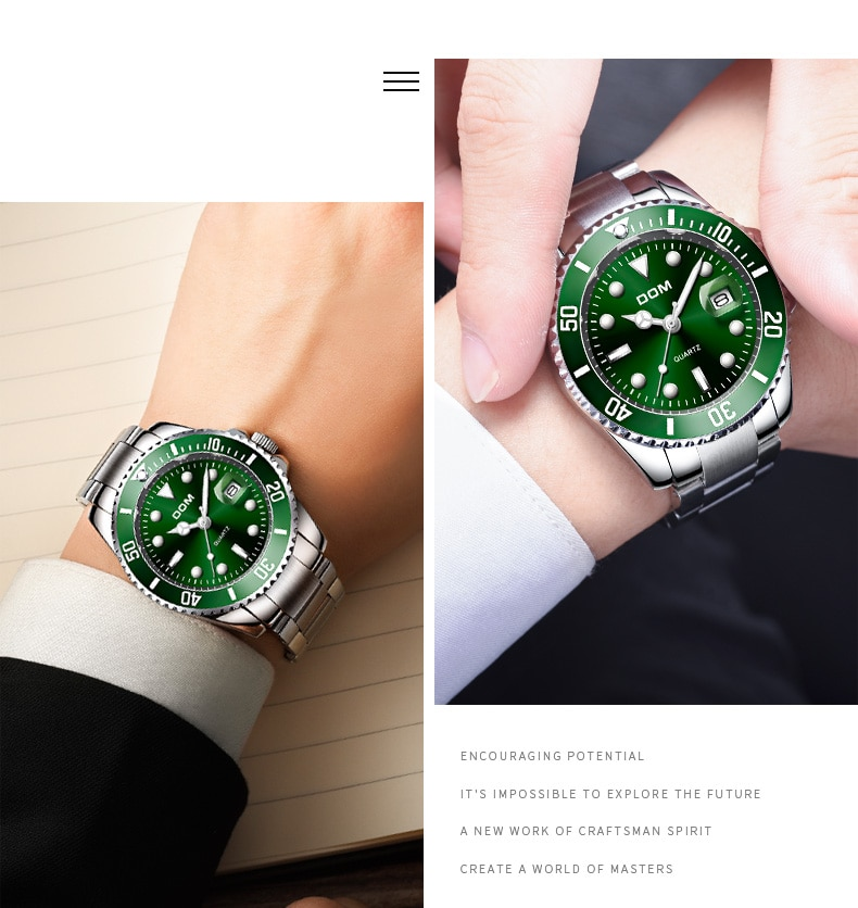 2019 Top Brand DOM Luxury Men's 30m Waterproof Date Clock Male Sports Watches Men Wrist Relogio Masculino