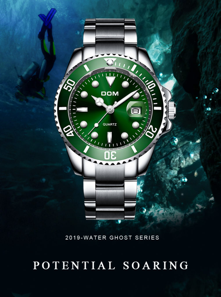 Top Brand DOM Luxury Men's Watch 30m Waterproof Date Clock Male Sports Watches Men Quartz Wrist Watch