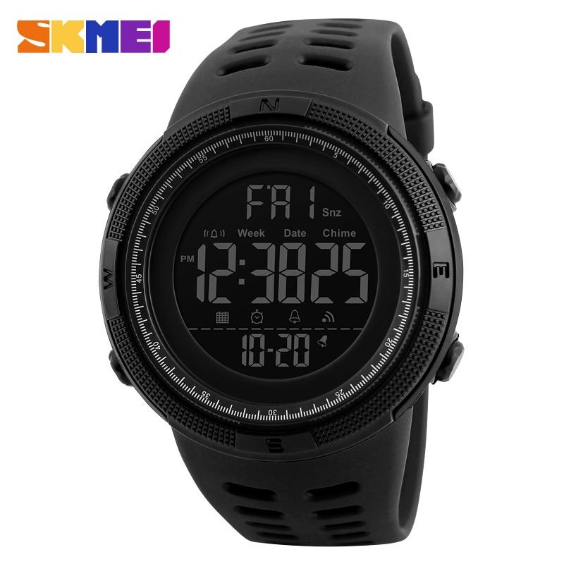 Fashion Outdoor Sport Watch Men Multifunction Watches Alarm Clock Chrono 5Bar Waterproof Digital Watch