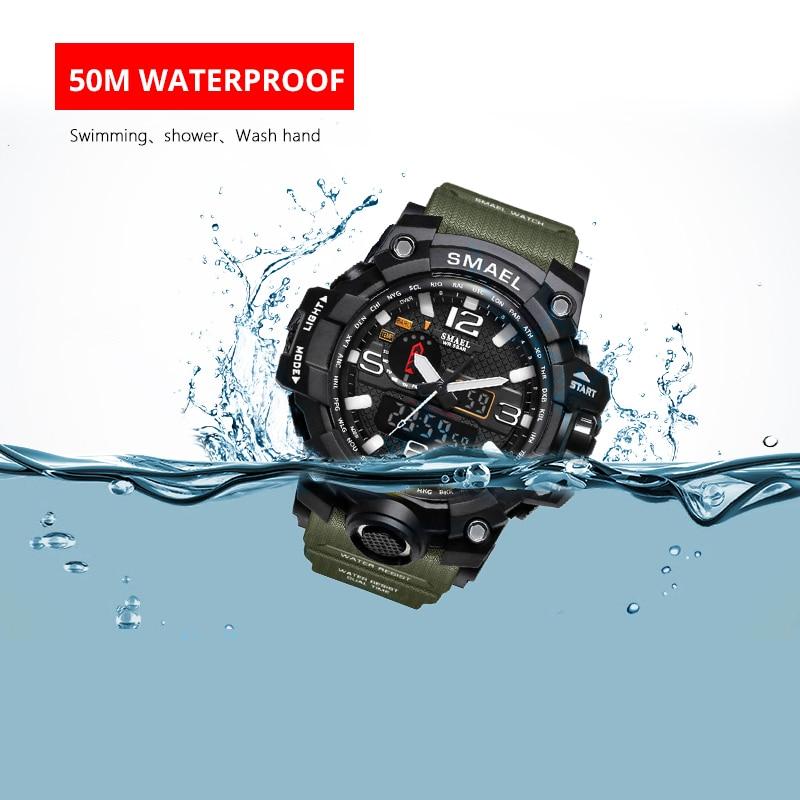 Men Military Watch 50m Waterproof Wristwatch LED Quartz Clock Sport Watch Male relogios masculino