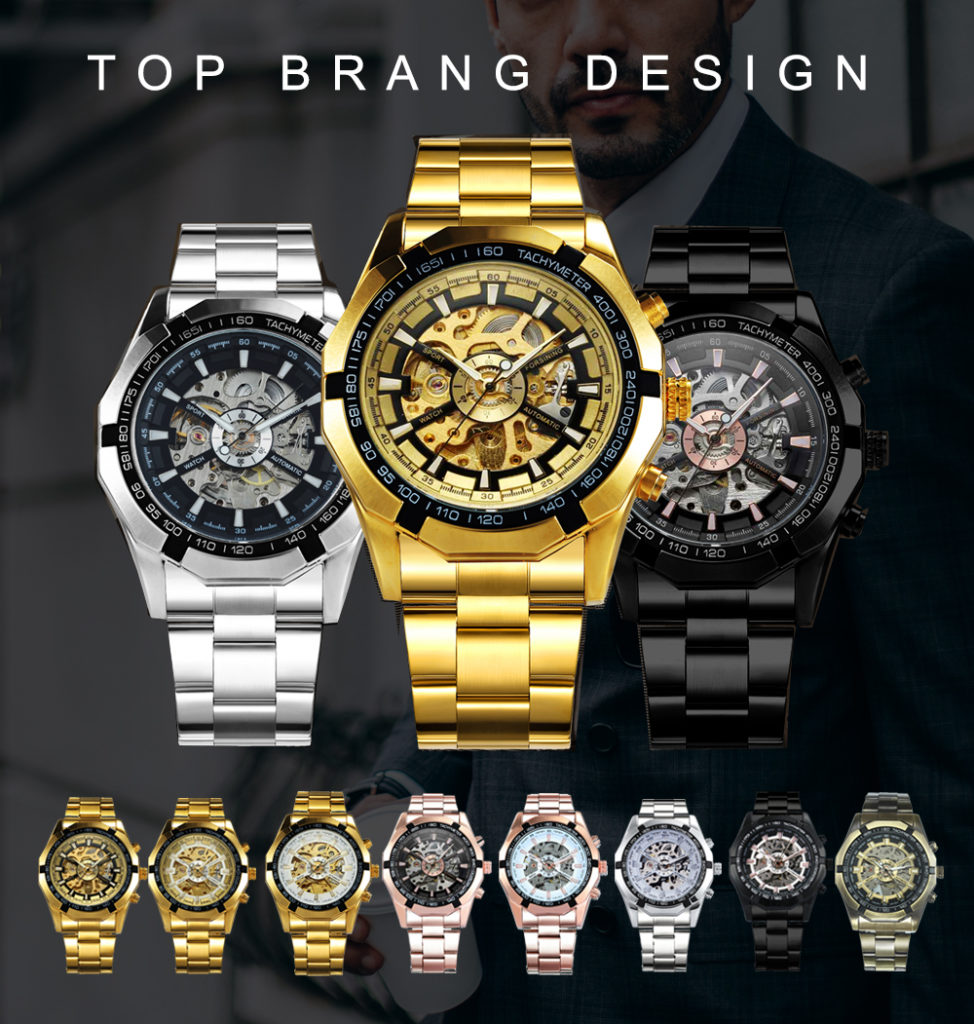 Watch Men Skeleton Automatic Mechanical Watch Gold Skeleton Vintage Man Watch Mens FORSINING Watch Top Brand Luxury