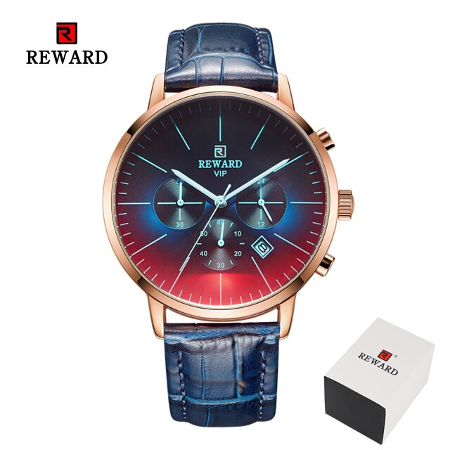 New Fashion Color Bright Glass Watch Men Top Luxury Brand Chronograph Men's Stainless Steel Business Clock Men Wrist Watch