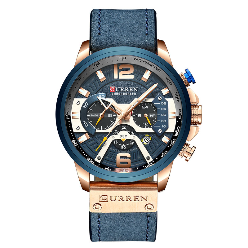 Luxury Brand Men Analog Leather Sports Watches Men's Army Military Watch Male Date