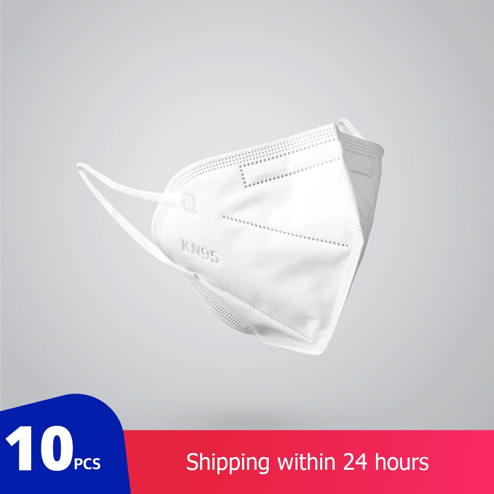 KN95 Dustproof Anti-fog And Breathable Face Masks 95% Filtration Mouth Masks 3-Layer Mouth Muffle Cover Fast Shipping