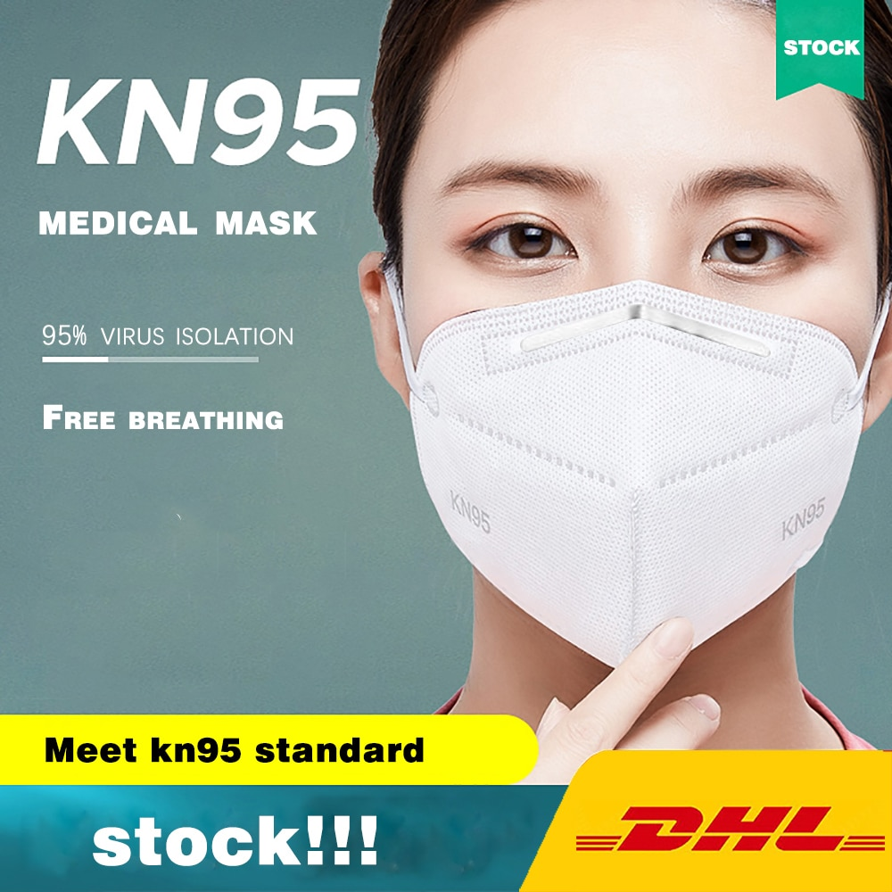 KN95 Dustproof Anti-fog And Breathable Face Masks 95% Filtration Mouth Masks 4-Layer Mouth Muffle Fast Shipping