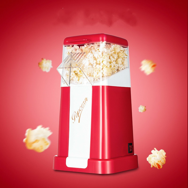 Household Popcorn Makers Hot Air Corn Popper Suitable For Diy Electric Popcorn Popper Mini Popcorn Machine