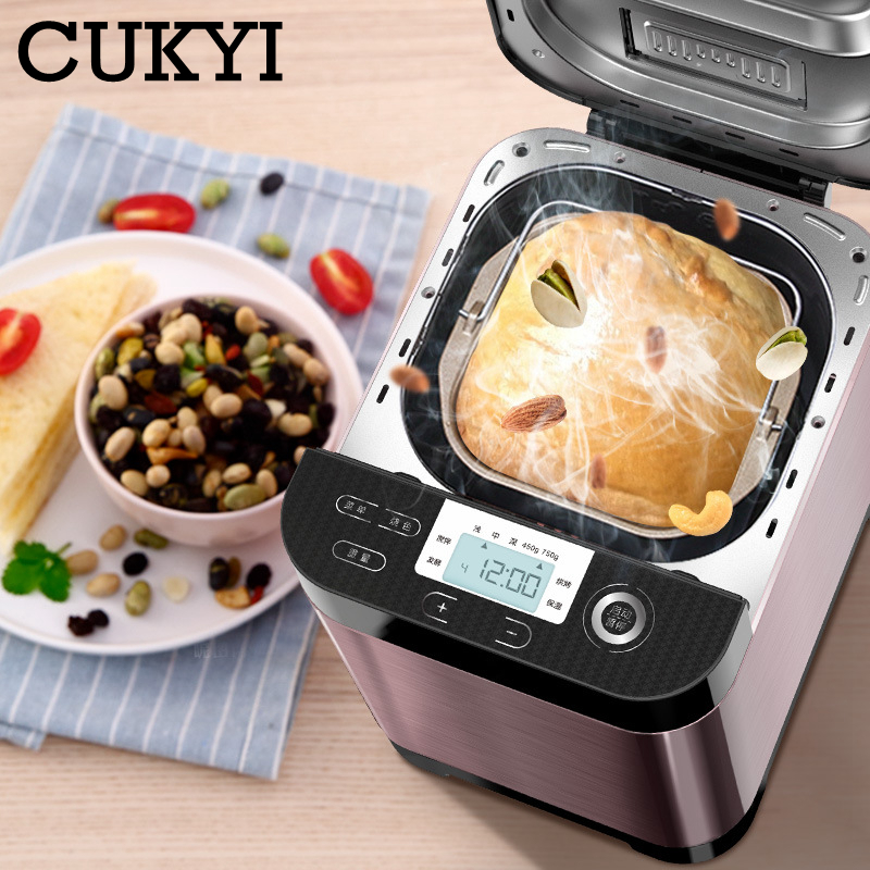automatic Fruit Sprinkled bread maker multifunction bakery machine kitchen household appliance kneading dough fermentation
