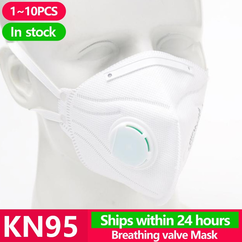 KN95 Disposable Face Masks N95 Protective Filter Mouth Respirator Dust Mask Flu Facial template ffp2 Pm2.5 mouth Cover