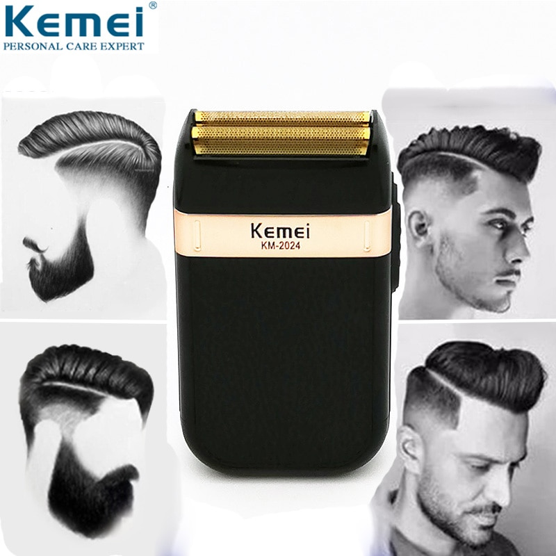 Electric Shaver for Men Twin Blade Waterproof Reciprocating Cordless Razor USB Rechargeable Shaving Machine Barber Trimmer