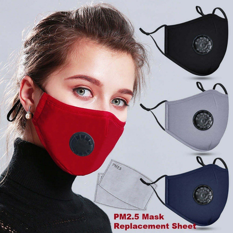 Mouth Mask Anti-dust Mask Reusable Mask with Breathing Valve KN95 Masks Washable Mouth N95 Face Masks Filter Pad In Stock