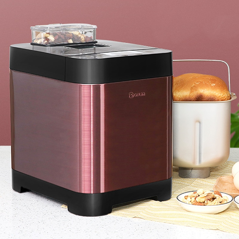 Fully Automatic Bread Maker Timing Dough Kneading Automatic Feeding Toaster Bread Machine Metal Body Breakfast Machine