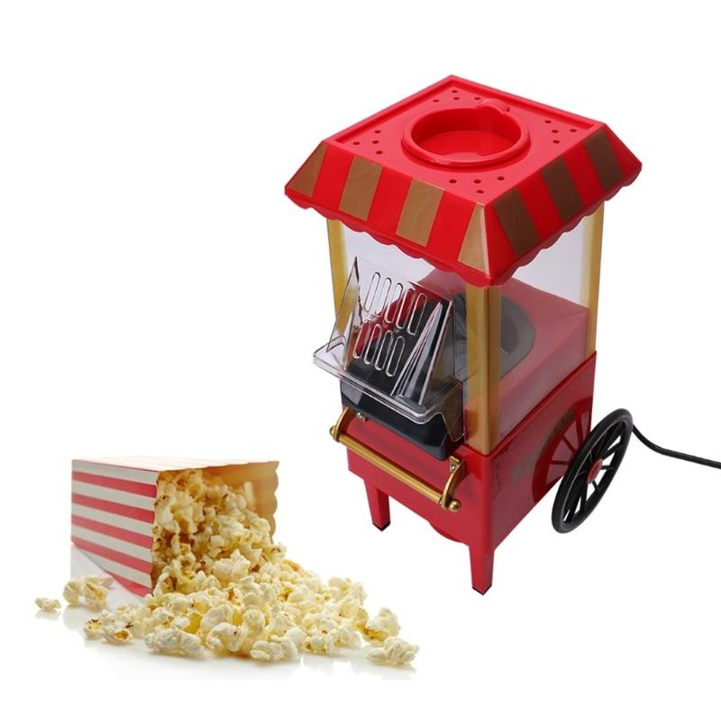 Vintage Retro Electric Popcorn Popper Machine Home Party Tool EU Plug DIY Corn Popper Children Gift Hot Air