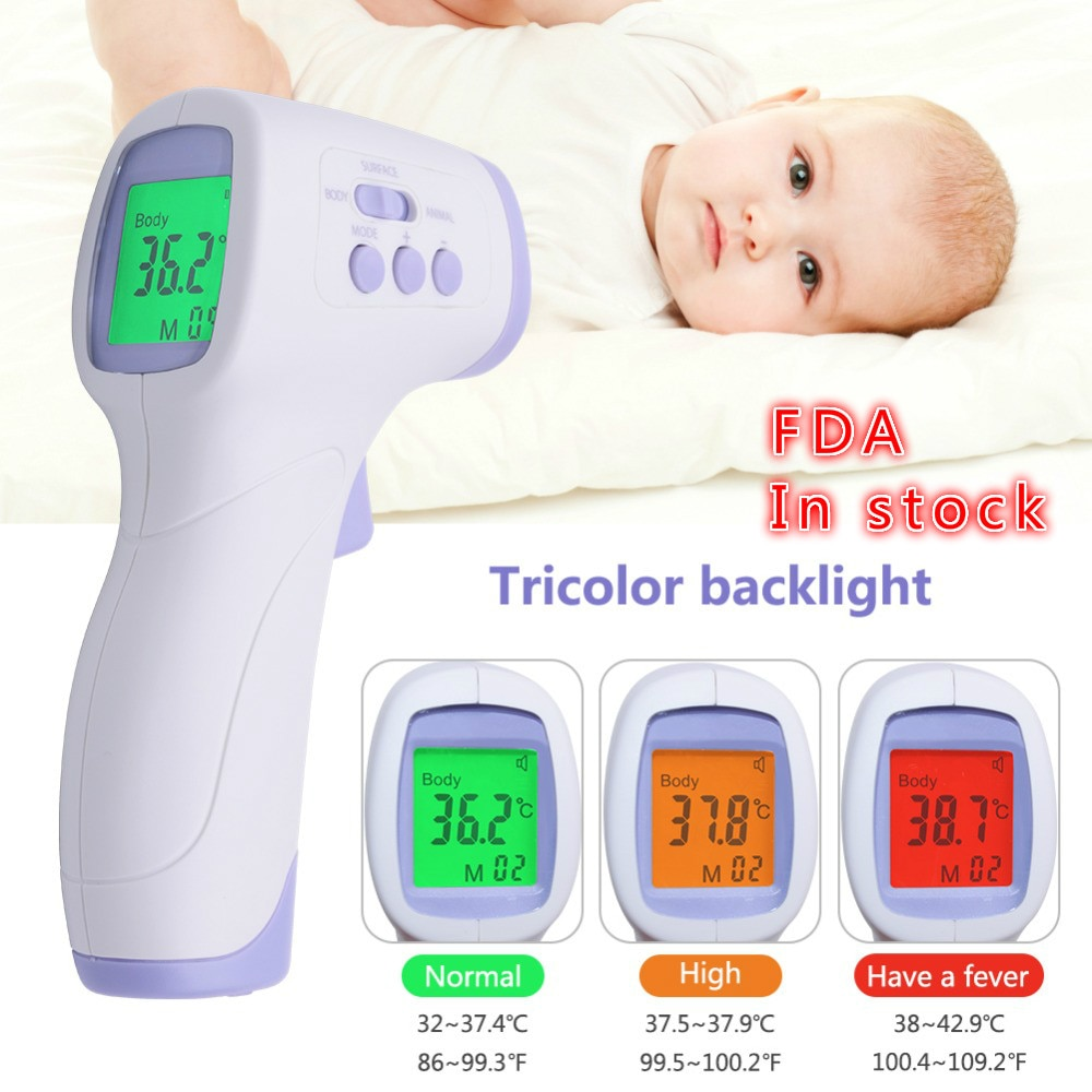 Non-Contact IR Laser Digital Thermometer Infrared Thermometer Humans and Animals Thermometers BABY Termometro Digital Febre
