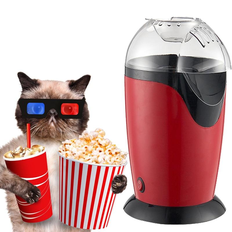Portable Electric Popcorn Maker Hot Air Popcorn Making Machine Kitchen Desktop Mini DIY Corn Maker