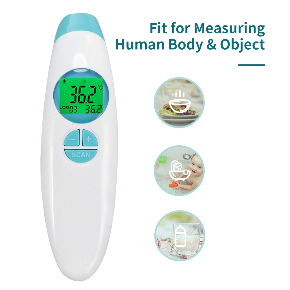 LCD Display 1s Fast Thermometers Baby Non-Contact Infrared Head Temperature Fever Warning Thermometer