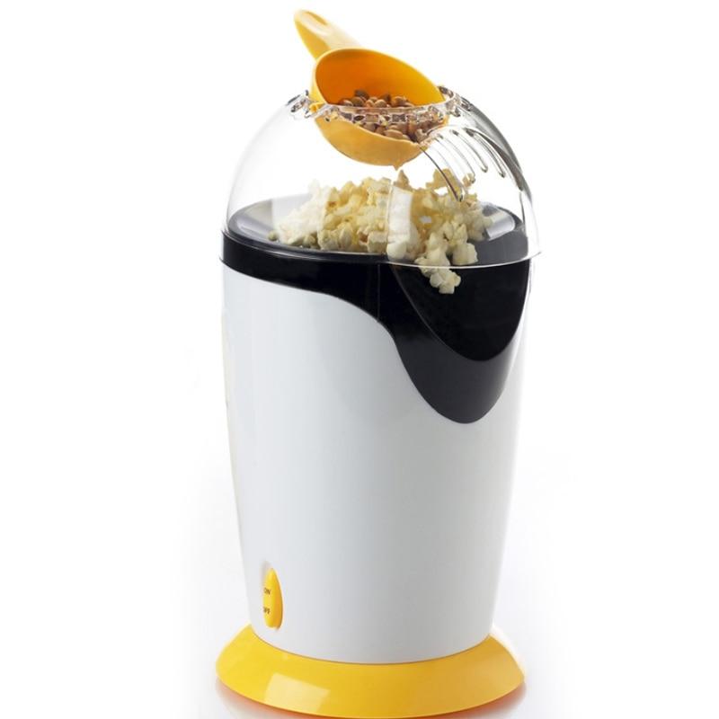 Portable Electric Popcorn Maker Hot Air Popcorn Making Machine Kitchen Desktop Mini Diy Corn Maker, Eu Plug