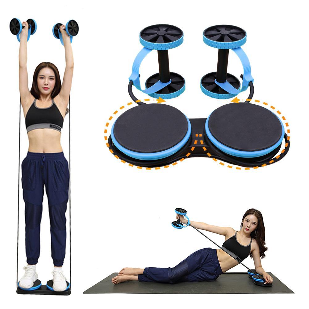 Multi-function Fitness Equipment Abdominal Wheel Two-wheel Abdomen Arm Tension Training For Sports Gym Home Twisting Machine