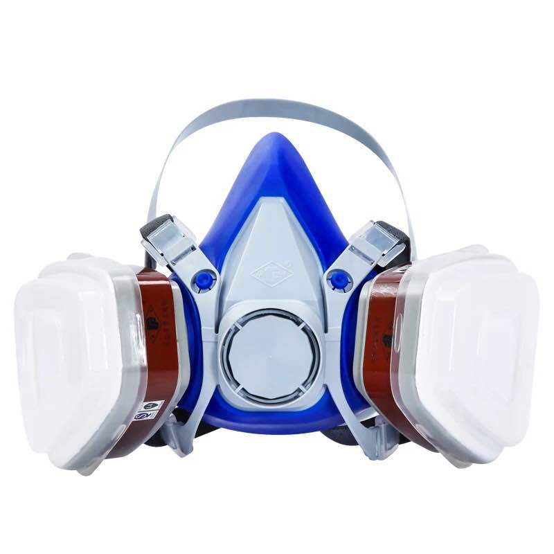 KN95 Self-priming filter gas mask full face protective Respirator Activated Carbon mask anti-dust paint chemical mask 3M