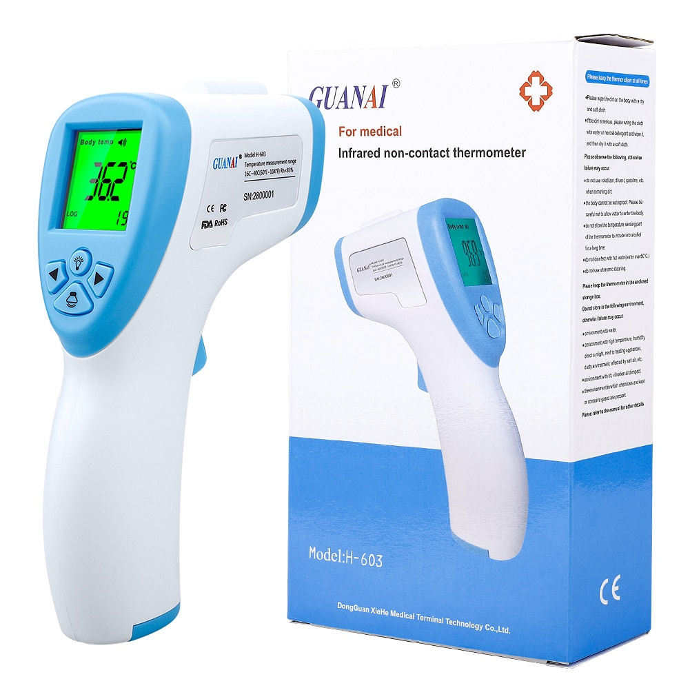 Thermometer Digital Infrared Ir Lcd Thermometer Forehead And Ear Non-Contact Fever Temperature For Body Thermometer Baby