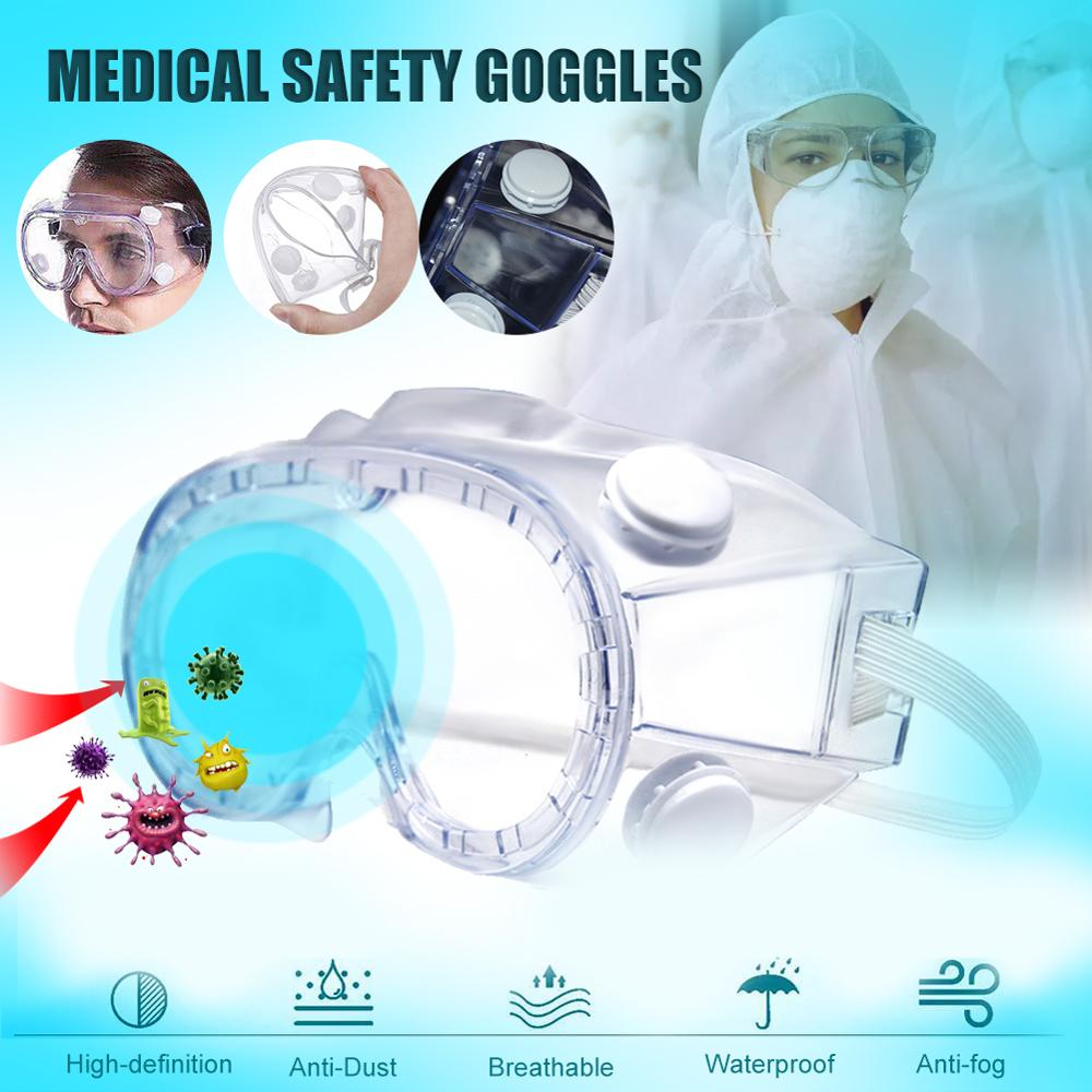 Medical Goggles Anti-virus Dust Proof Transparent Protective Glasses Goggles for Chemical Research Cycling Riding