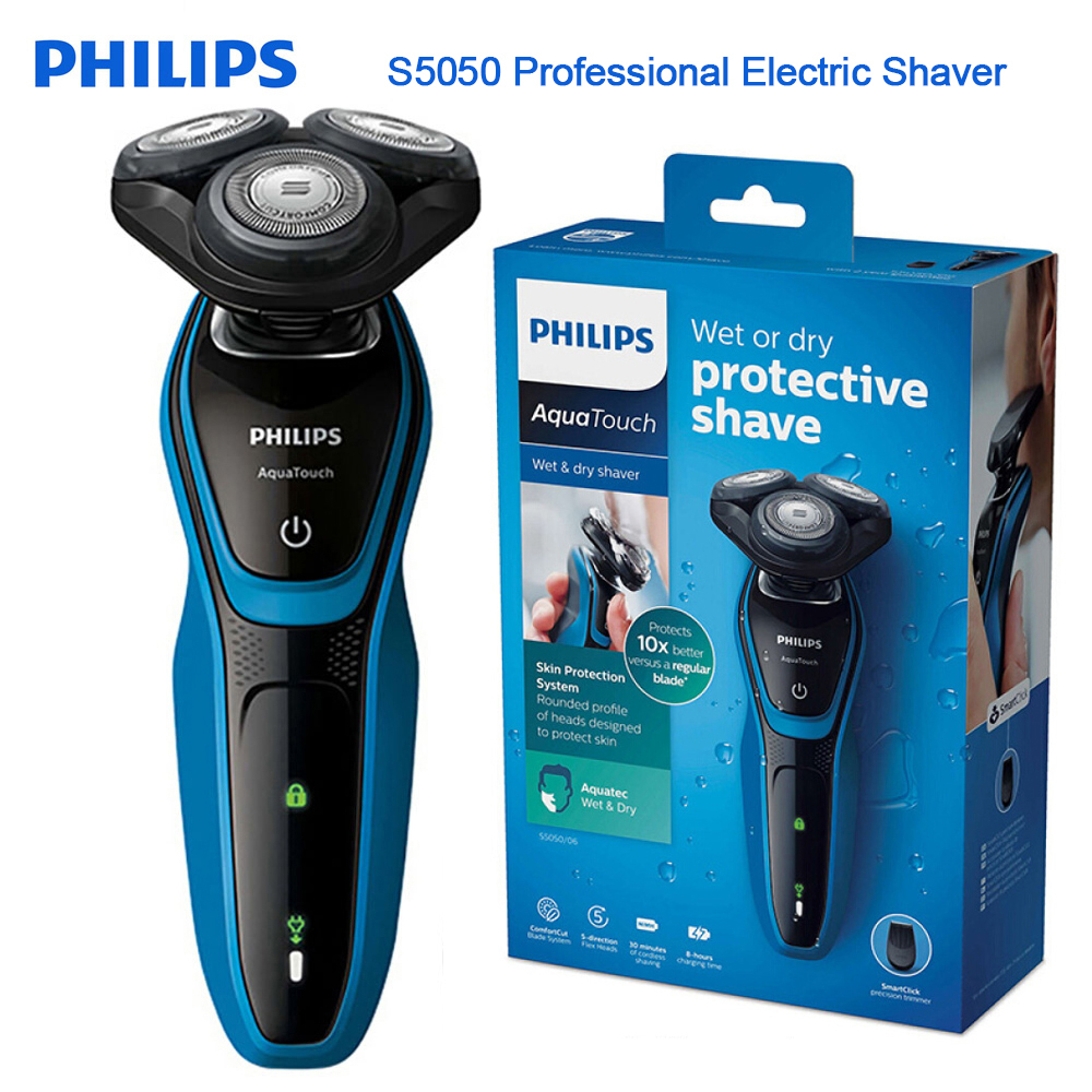 Professional Electric Shaver S5050 Fully Washable Shaving Machine with AquaTec Wet & Dry Skin Protection System Razor