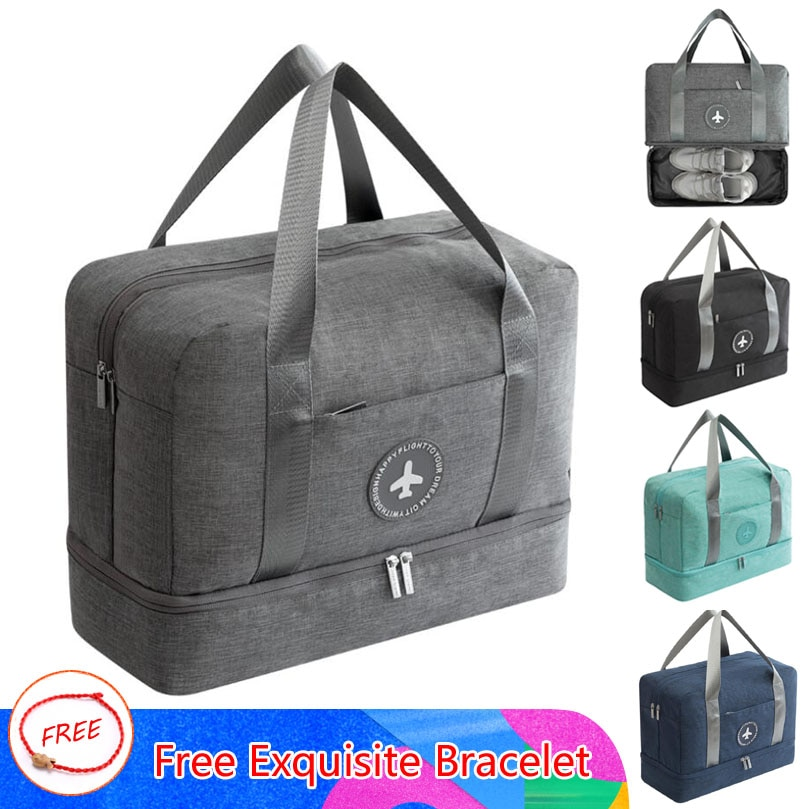 New Cationic Fabric Waterproof  Large Capacity Double Layer Storage Portable Duffle Packing Cube Weekend