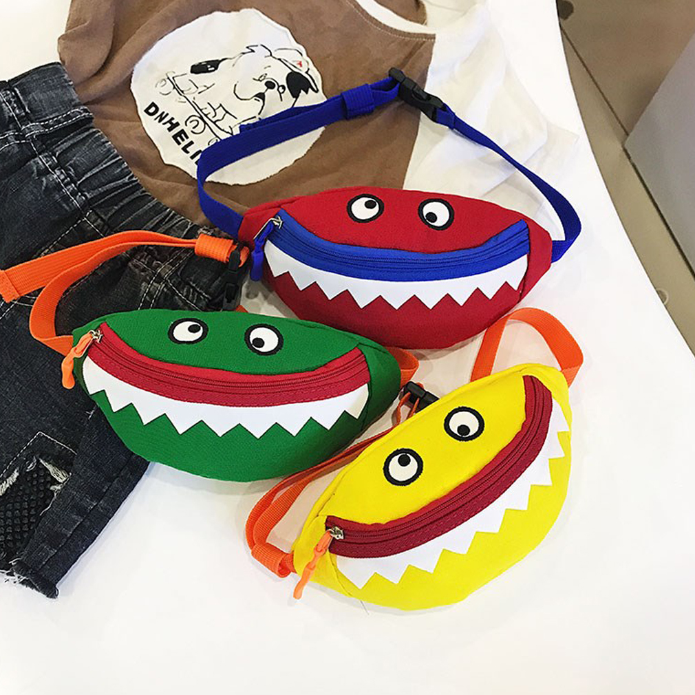 2019 HOT Kids Baby Girl Cute Waist Packs Fashion Leisure Little Monster Cotton Mini Bag fanny pack belt bag