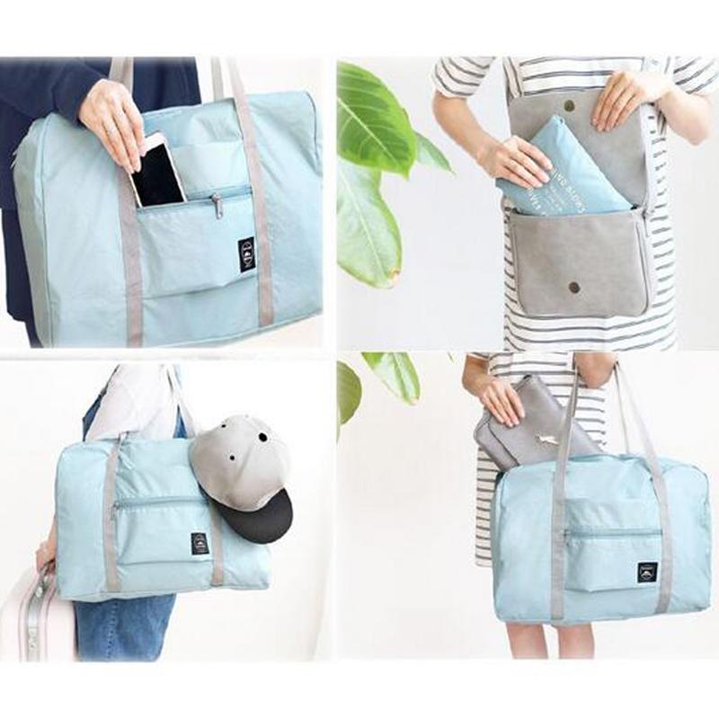 2020 new nylon foldable unisex Large Capacity Luggage Women WaterProof Handbags men travel Free Shipping