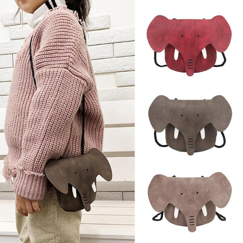 Solid Color Casual Messenger Bags Cute Elephant Girls Purse Handbag Kids Crossbody Shoulder Bags Mini Bag Bolsas Feminina Mujer