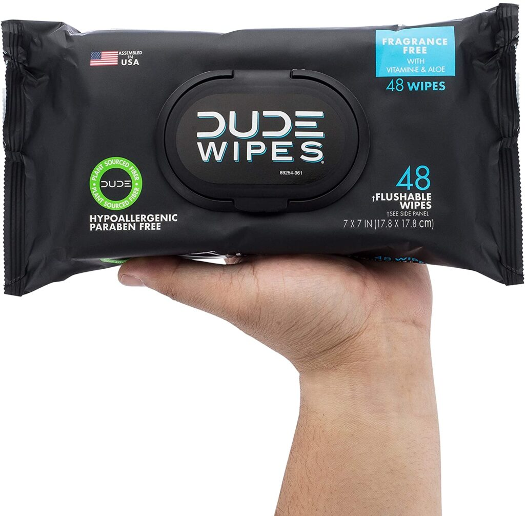 Dude Wipes Flushable Wipes Dispenser (3 Packs 48 Wipes),