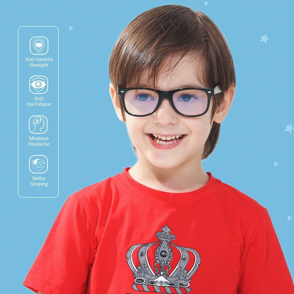 Cyxus Blue Light Glasses for Teens Anti Eyestrain Computer Gaming Eyewear for Kids Boys Girls Ages 7-16