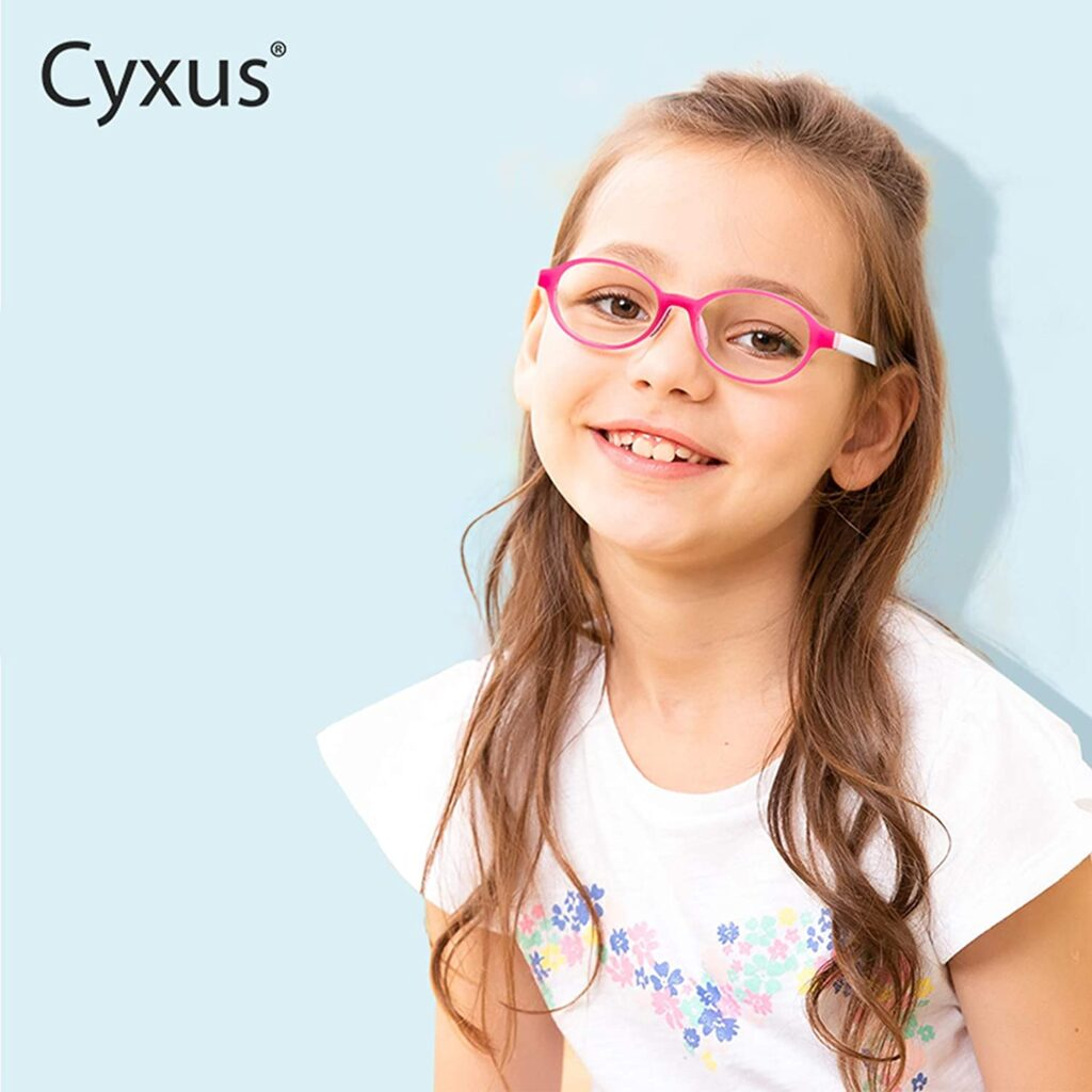 Cyxus Blue Light Blocking Glasses for Kids and Teens Anti Eye Strain UV Protection Computer Eyeglasses Boys/Girls