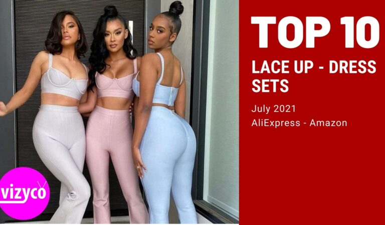 Top 10 Lace up Dress Sets on AliExpress and Amazon July 2021