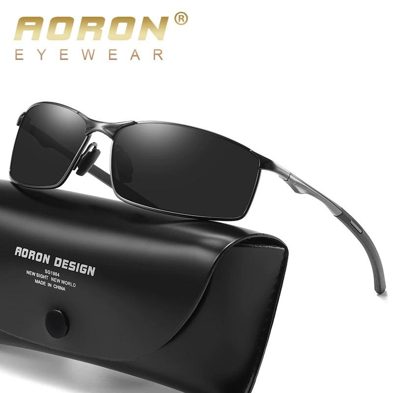 Aoron Polarized Sunglasses Mens/Women Driving Mirror Sun Glasses Metal Frame Goggles UV400 Anti-Glare Sunglasses Wholesale