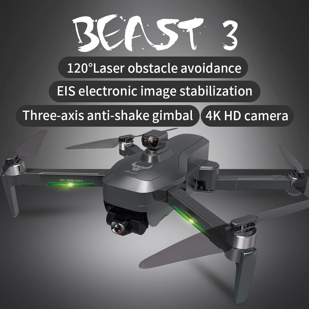RC DRON SG906Max 3-Axis Gimbal Camera Drone 4K Obstacle Avoidance 1.2Km 5G FPV GPS Professional Long Distance Quadcopter Drone
