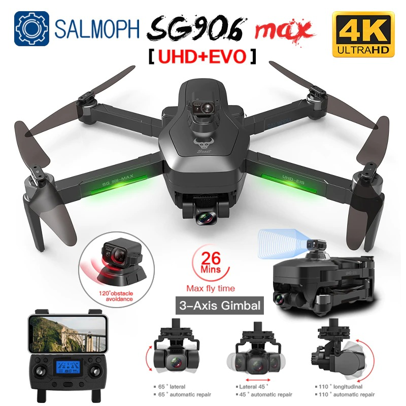 SG906 Pro 2 / SG906 MAX GPS Drone with Wifi 4K HD Camera 3-Axis Gimbal Brushless Professional Quadcopter Obstacle Avoidance Drone