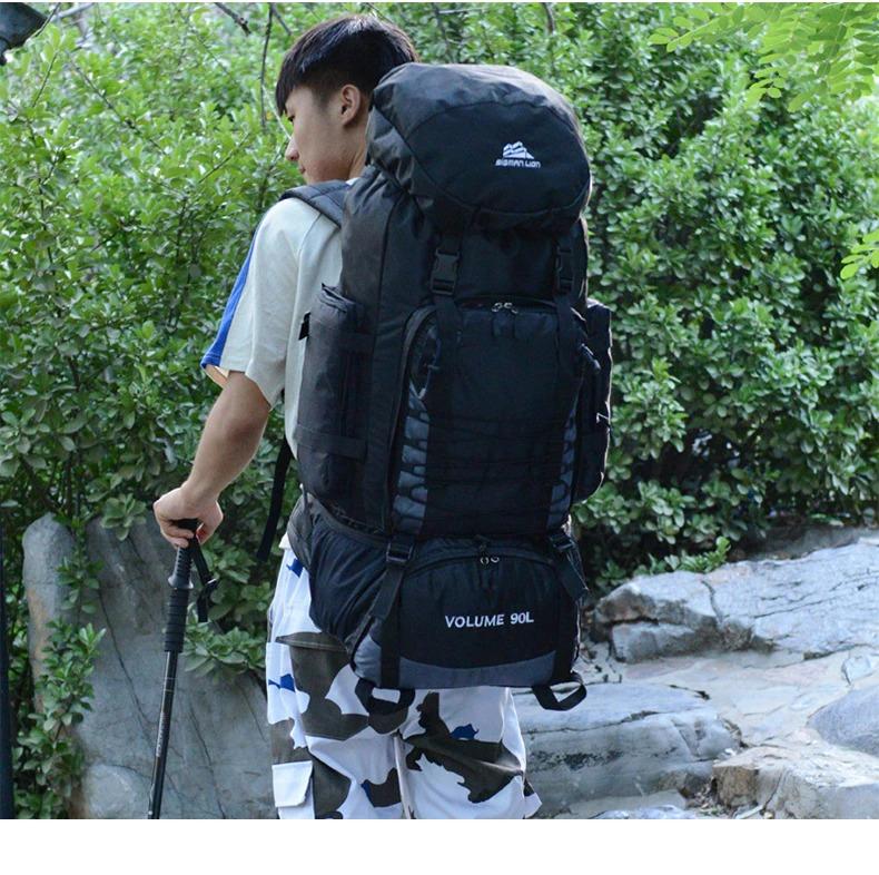90L 50L Travel Bag Camping Backpack Hiking Army Climbing Bags Trekking Mountaineering Mochila Large Capacity Sport Bag XA857WA