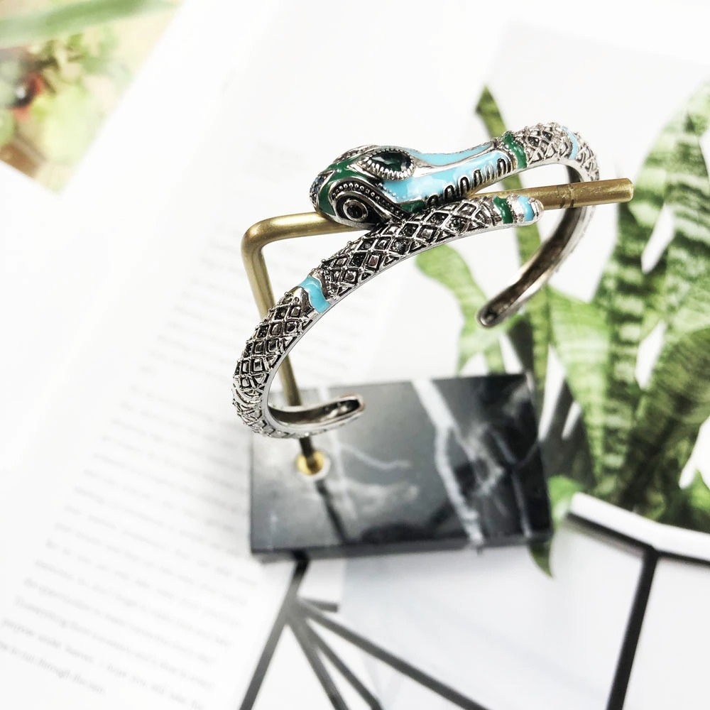 Bracelets Bangles Blue Snake 925 Sterling Silver Fashion Bohemia Glam 2020 New Jewelry For Women Europe Style Soul Fine Gift