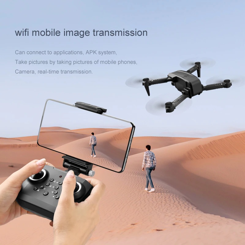 JINHENG Mini Drone 4K Professional Dual HD Camera Aerial Photo FPV Remote Control Quadcopter WiFi RC Dron Toys For Boys Gifts