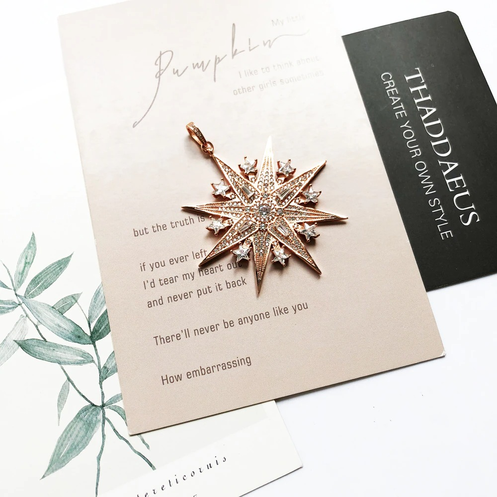 Pendant Lucky Magic Star Rose Gold,2020 Spring New Jewelry Romantic 925 Sterling Silver Unique Magical Festive Gift For Women
