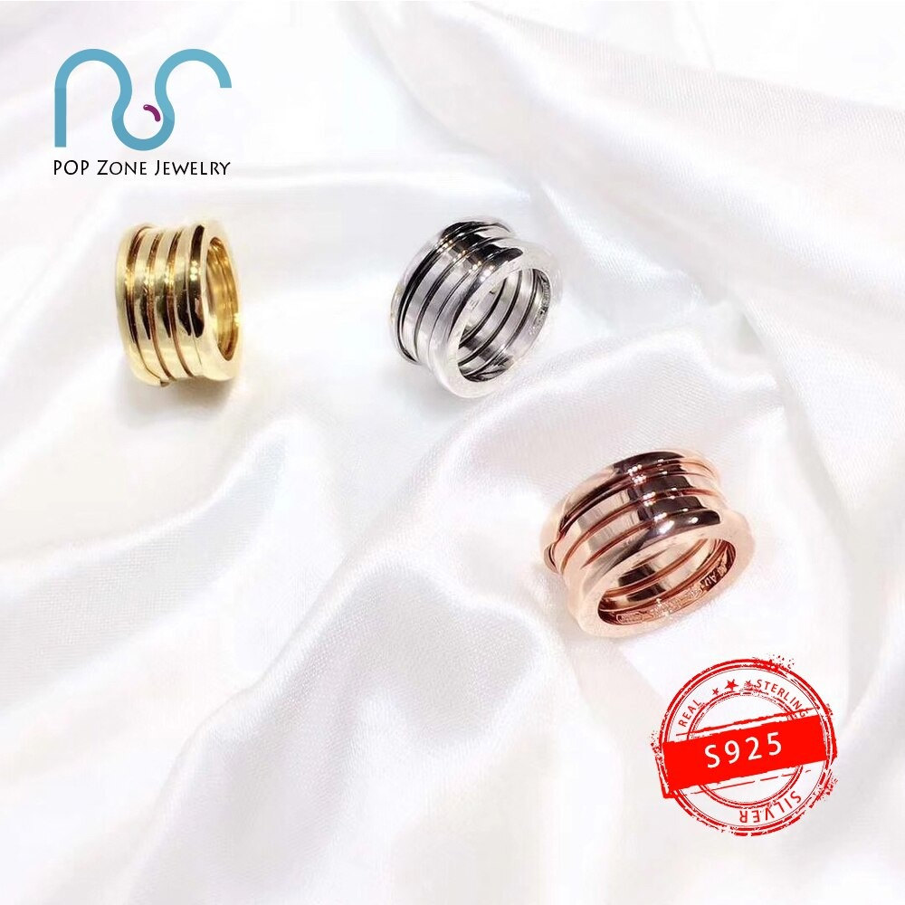 S925 Sterling Silver Ring Brand Zero Ring Spring Ring Luxury Original Trendy Design Anniversary Party For Women Lovers With Logo